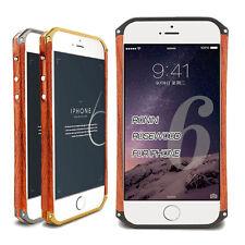 Wood Aluminum Metal Bumper Wooden Metal Frame Cover Case For iPhone 5 /6 /6Plus