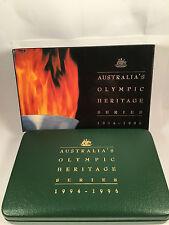 1994 -1996 Australia's Olympic Heritage Series $10 coins x 6