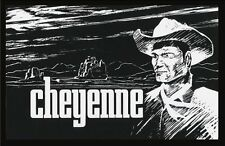 "CHEYENNE TV LOGO POSTER. 11"" X 15.5"". CLINT WALKER AS CHEYENNE. LINEN FINISH."