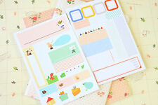 IM+ Index Label Stickers cute cartoon animals planner diary journal name labels