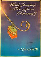 AFFICHE FESTIVAL HUMOUR CHAMROUSSE 1977 signée Patrice Bonnaffé 61x44