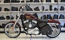 Harley SPORTSTER All Years LEFT Side SOLO BAG Saddlebag - SL012 BAD&G CustomS