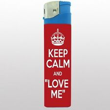 "Jumbo Big Giant 6.5"" Electronic Lighter Keep Calm and Love Me Design-004"