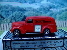 "1/43  Durham classics Ford 1939 panel delivery  :""Sun Times"""""