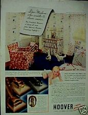 1940 Hoover Vacuum Sweeper Household Appliance Print AD