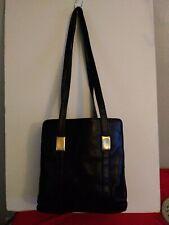 Worthington Genuine Leather  Black Organiser Shoulder Purse Ladies Handbag