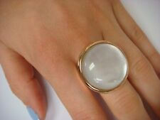 LARGE 14K ROSE GOLD ROUND MOTHER OF PEARL LADIES RING 10.5 GRAMS SIZE 9