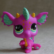 Fushcia Dragon green eyes Action Figure gift  LPS #2663 LITTLEST PET SHOP