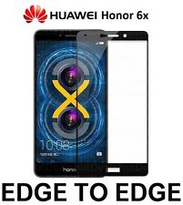 HUAWEI HONOR 6X Real Tempered Glass Screen Protector Full Coverage - BLACK SIDES