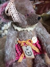 """Vintage Artist Teddy Bear OOAK Hand Made Mohair Jointed Signed 16""""/41cm"""