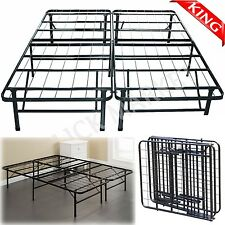 KING Size Metal Platform Bed Frame Heavy Duty Mattress Foundation Folding Base