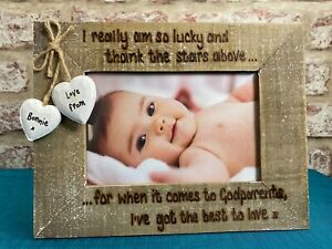 Godmother Godfather Godparents Gift   Personalised Photo Frame   Best To Love