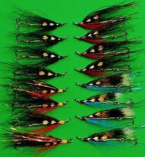 Salmon Sewin/ sea trout Waddington shank flies X 8 . Size 35mm size
