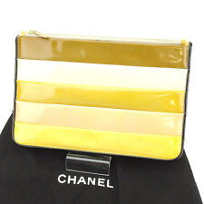 Chanel Clutch bag Beige Brown Woman Authentic Used T1639