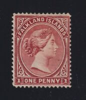 Falkland Islands Sc #11var (1891-1902) 1d Victoria REVERSED WATERMARK Mint H