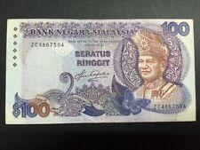 XT MALAYSIA 5TH SERIES AZIZ TAHA RM 100 LAST PREFIX ZC 4867504 RARE