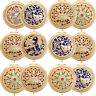 6x Lot ALICE Gleamy Boutique Compact Mirrors with Gift Box Handheld Mirror Pack