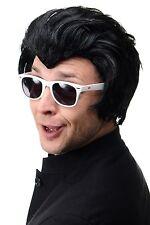 Perücke Herrenperücke Rockabilly King 50er Horrorpunk Vampir Biker Schwarz 45874