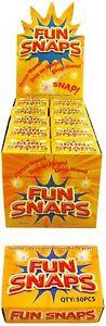 500 Fun Snaps Throw Bangers Kids Boys Girls Fun Party Bag Fillers Gift 10 Boxes