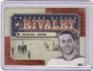 JEAN BELIVEAU 12/13 ITG Forever Rivals Rivalry #RI-07 Insert Canadiens Card
