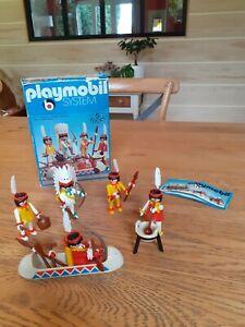 Boite Playmobil Vintage Ref 3251 Indiens Complete