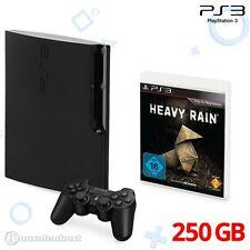 PS3 - Konsole Slim 250GB + Original Wireless Controller + Heavy Rain