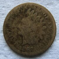 1867 Indian Head Cent Rare Key Date Good Details Bold Date Shows