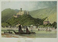 KOBLENZ / SCHLOSS STOLZENFELS - Carl Köhler - Farblithografie 1873