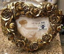 Vintage Style Built Gold Photo Rose Picture Frame Heart Shape