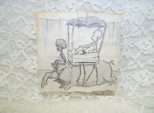 Antique Cultural Black & White Newspaper Cartoon Henry By Carl Anderson