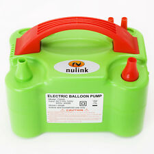 Portable High Power Two Nozzle Air Blower Electric Balloon Inflator Pump Green