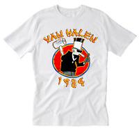 Van Halen 1984 World Tour Men Black Concert T Shirt White S-234XL AA423