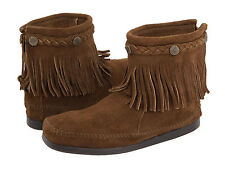 Minnetonka Hi-Top Back Zip Boot Dust Brown 6.5