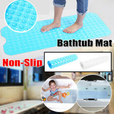 Non Slip Bath Tub Mat Long Safety Skid Shower Protection Pad w/Suction Cups