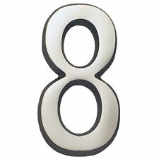 "Gaines Soft Curve 4"" House Number 8 Address Number 8 Satin Nickel/Chrome"