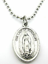 Our Lady Of Guadalupe Medal, Pendant Necklace,Chain,Silver Plated