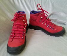 COLE HAAN 7 B RED LEATHER HIKING WINTER SKI WATERPROOF SHOES BOOTS