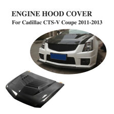 Carbon Fiber Front Bonnet Hood Cover Bodykit Fit for Cadillac CTS-V Coupe Sedan