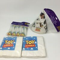 Original Toy Story Party Supplies Lot - Hats, Napkins, Paper Blowers 1995