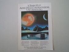 advertising Pubblicità 1979 ZENITH PORT ROYAL QUARTZ