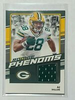 2020 Panini Donruss AJ DILLON Green Bay Packers Rookie Phenoms Jersey Card Mint