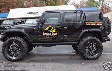 Lot of 4 Huge Jurassic Park Decals Jeep Rubicon JK TK Car Van Stickers