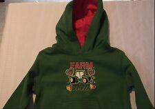 John Deere Baby Girls 12 Month Green Farm Cutie Long Sleeve Hooded Sweatshirt