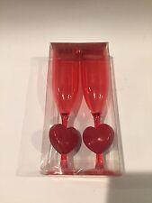 Valentine Champagne Flutes, Plastic, Lot N0210334-A3-4