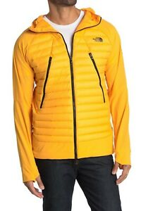The North Face Mens Unlimited Hooded Down Ski Jacket Puffer Zinnia Orange Size M
