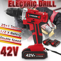 🔥Rechargeable Electric Cordless Impact Driver Drill Screwdriver Hammer Tool 42V