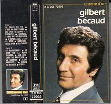 "K 7 AUDIO  GILBERT BECAUD  ""LA CASSETTE D'OR"""