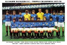 GLASGOW RANGERS F.C.TEAM PRINT 1977-78
