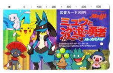 Japanese Pokemon Meiji Mew, Pikachu, Lucario & More Phone Card