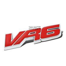 Fit VW Vr6 Golf/Jetta Metal Bumper Trunk Grill Emblem Decal Badge Chrome Red